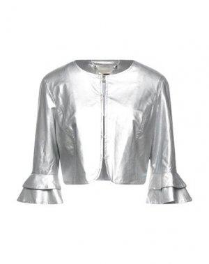 Пиджак FRACOMINA. Цвет: серебристый