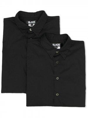 Рубашка с длинными рукавами и карманами Black Comme Des Garçons. Цвет: черный
