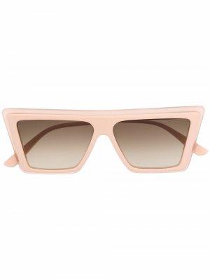 Солнцезащитные очки в массивной оправе Christian Roth. Цвет: нейтральные цвета