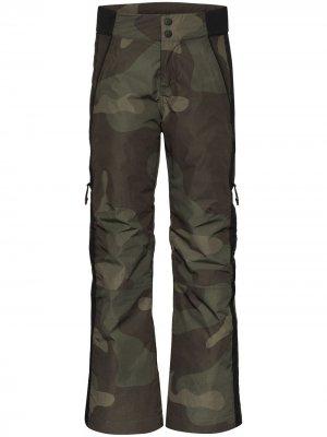 Лыжные брюки с камуфляжным принтом Holden. Цвет: зеленый