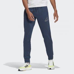 Брюки Sportswear Graphic adidas. Цвет: синий