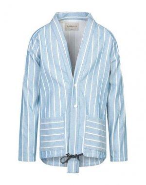 Пиджак CORELATE. Цвет: небесно-голубой
