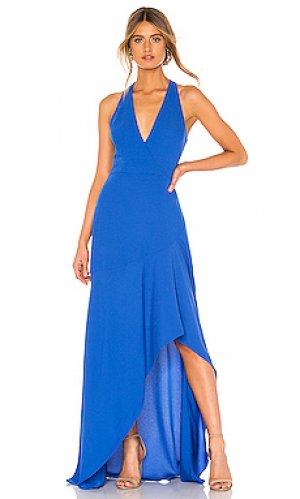 Вечернее платье BCBGMAXAZRIA. Цвет: синий