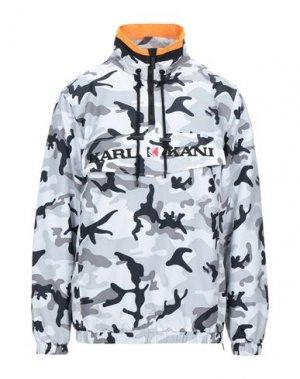 Куртка KARL KANI. Цвет: светло-серый