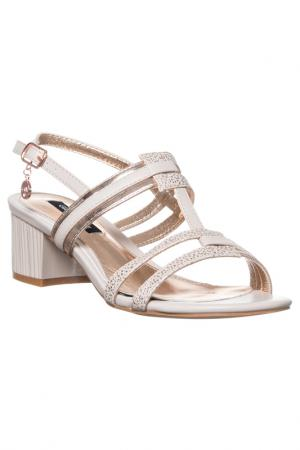 High heels sandals GianMarco Venturi. Цвет: beige