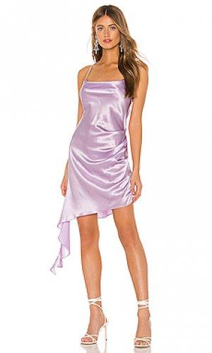 Мини платье solange Amanda Uprichard. Цвет: бледно-лиловый