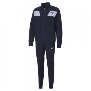 Спортивный костюм Techstripe Tricot Suit PUMA. Цвет: синий