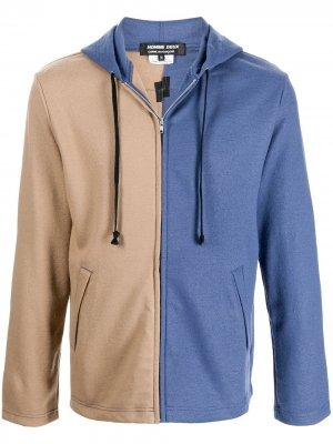 Куртка в стиле колор-блок с капюшоном Comme Des Garçons Homme Deux. Цвет: коричневый