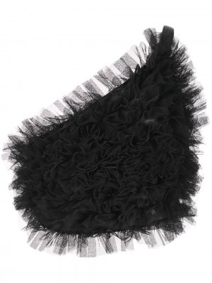 Портупея из тюля с оборками Comme Des Garçons Noir Kei Ninomiya. Цвет: черный