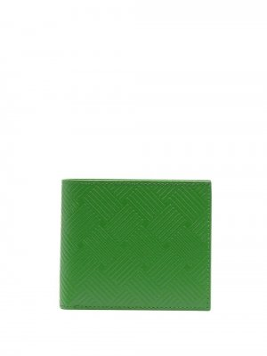 Фактурный бумажник Bottega Veneta. Цвет: зеленый