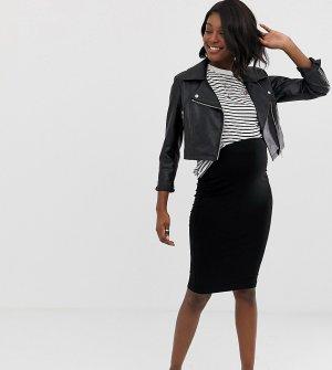 Черная трикотажная юбка-карандаш миди ASOS DESIGN Maternity-Черный цвет Maternity