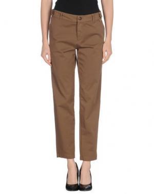 Повседневные брюки BLUE DEEP. Цвет: темно-коричневый
