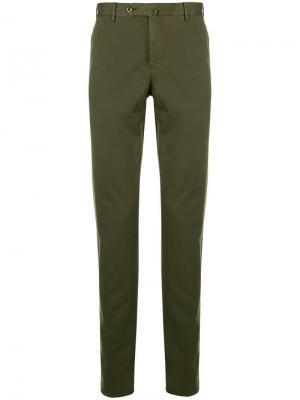 Классические однотонные брюки-чинос Pt01. Цвет: зеленый