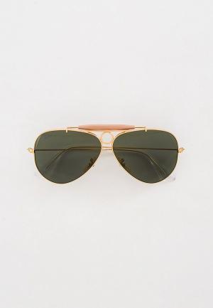 Очки солнцезащитные Ray-Ban® RB3138 W3401. Цвет: золотой