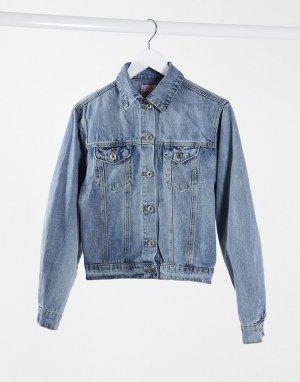 Синяя короткая джинсовая куртка Fae-Синий FAE
