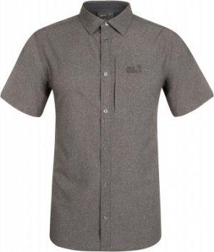 Рубашка с коротким рукавом мужская Jack Wolfskin Barrel, размер 44. Цвет: серый