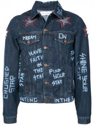 Куртка с нашивками Faith Connexion. Цвет: синий