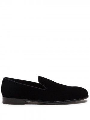 Слиперы на блочном каблуке Dolce & Gabbana. Цвет: черный