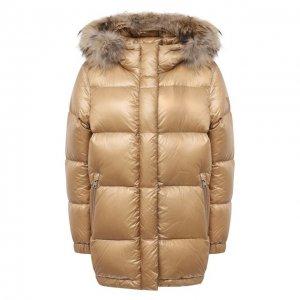Пуховая куртка Woolrich. Цвет: бежевый