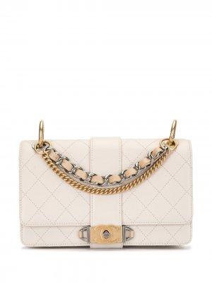 Стеганая сумка на плечо Chanel Pre-Owned. Цвет: нейтральные цвета
