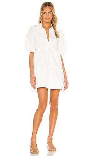 Мини платье pierre Amanda Uprichard. Цвет: белый