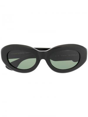 Солнцезащитные очки в оправе кошачий глаз Chrome Hearts. Цвет: черный