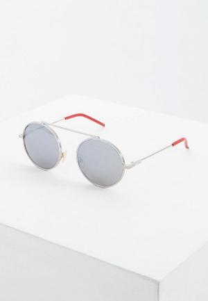 Очки солнцезащитные Fendi FF M0025/S 010. Цвет: серебряный