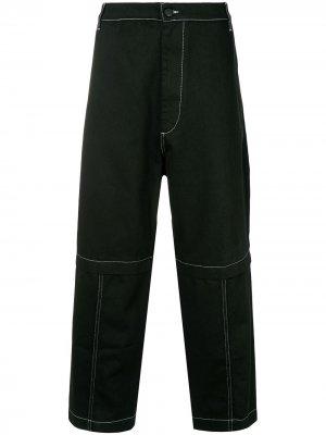 Широкие джинсы средней посадки Etudes. Цвет: черный