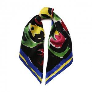 Шелковый платок Marni. Цвет: разноцветный