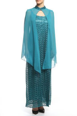 Платье BMBL VIRSAVIYA. Цвет: бирюза