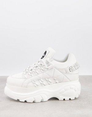 Белые походные кроссовки на толстой подошве Classic-Белый Buffalo