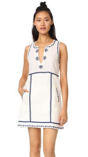 Платье Marini с вышивкой Ella Moss. Цвет: коричневый