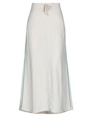 Длинная юбка GOTHA. Цвет: слоновая кость