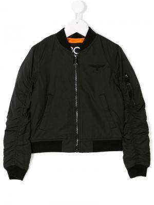 Куртка-бомбер с рукавами со сборками Boy London Kids. Цвет: черный