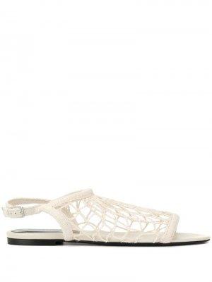 Сетчатые сандалии Sonia Rykiel. Цвет: белый