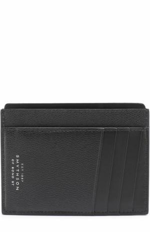 Кожаный футляр для кредитных карт Smythson. Цвет: черный