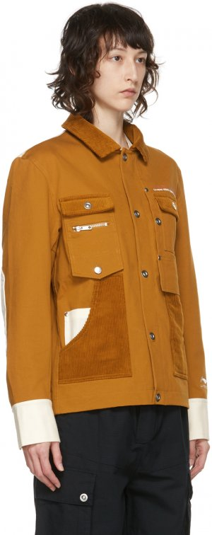 Brown Hexagon Work Jacket Li-Ning. Цвет: brown