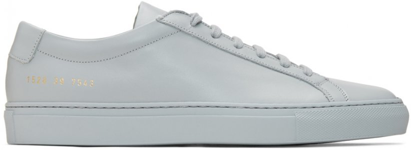 Grey Achilles Low Sneakers Common Projects. Цвет: 7543 grey