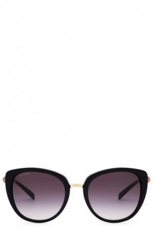 Солнцезащитные очки BVLGARI. Цвет: чёрный