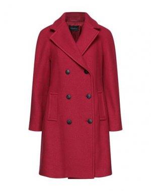 Пальто ANTONELLI. Цвет: кирпично-красный
