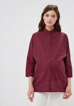 Рубашка po Pogode. Цвет: бордовый