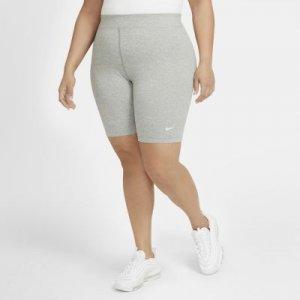 Женские велошорты со средней посадкой Sportswear Essential (большие размеры) - Серый Nike