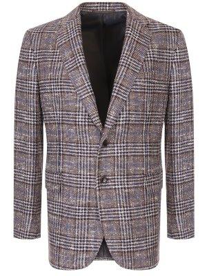 Кашемировый пиджак в клетку Stile Latino. Цвет: разноцветный
