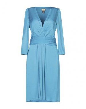 Платье до колена ISSA. Цвет: бирюзовый