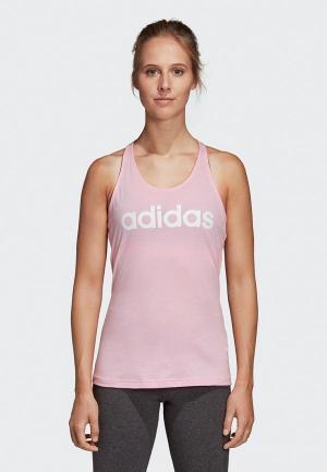 Майка спортивная adidas W E LIN SLIM TK. Цвет: розовый