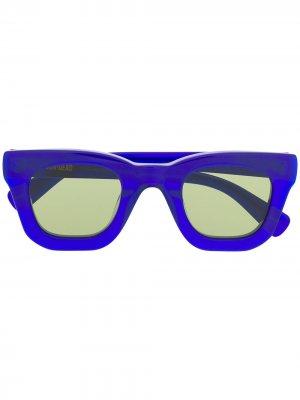 Солнцезащитные очки в квадратной оправе Brain Dead. Цвет: синий