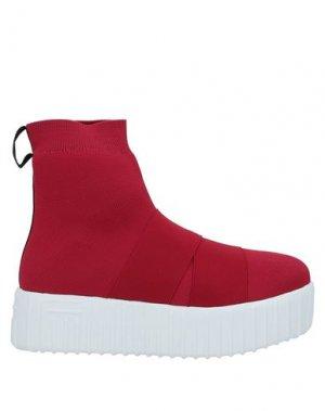 Полусапоги и высокие ботинки FESSURA. Цвет: красный