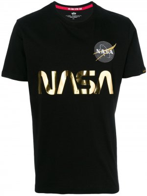 NASA T-shirt Alpha Industries. Цвет: черный