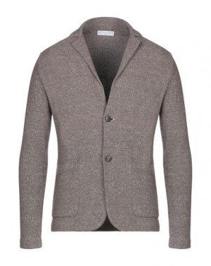 Пиджак FILIPPO DE LAURENTIIS. Цвет: коричневый