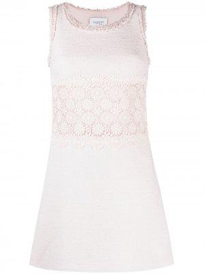 Платье мини с цветочной вышивкой Giambattista Valli. Цвет: розовый